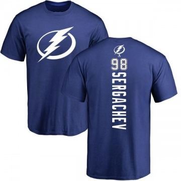 Men's Mikhail Sergachev Tampa Bay Lightning Backer T-Shirt - Royal