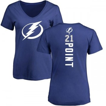 Women's Brayden Point Tampa Bay Lightning Backer T-Shirt - Blue