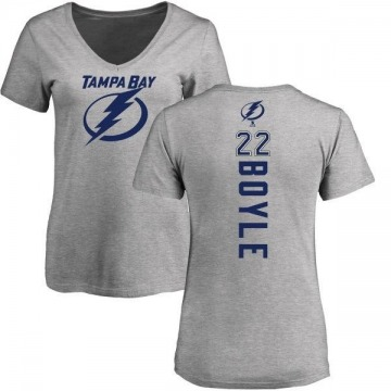 Women's Dan Boyle Tampa Bay Lightning Backer T-Shirt - Ash