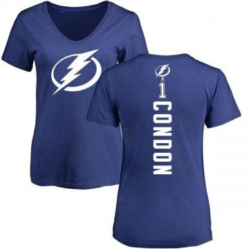 Women's Mike Condon Tampa Bay Lightning Backer T-Shirt - Blue